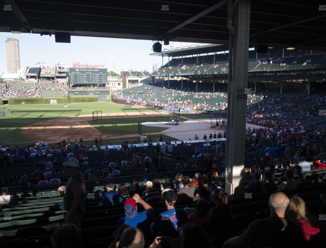 Chicago Cubs at Wrigley Field Section 210 View