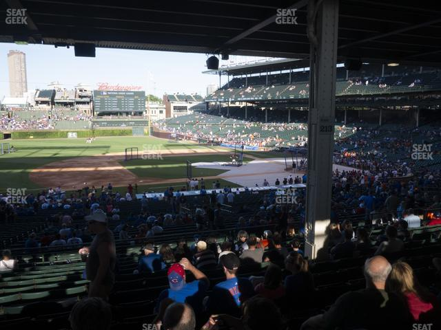 Wrigley Field Section 210 view