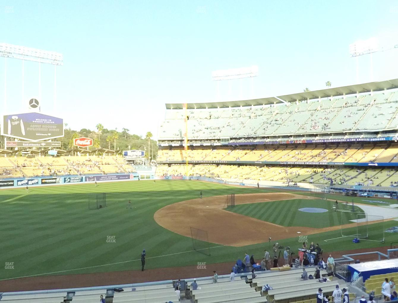 Los Angeles Dodgers at Dodger Stadium Loge Box 145 View