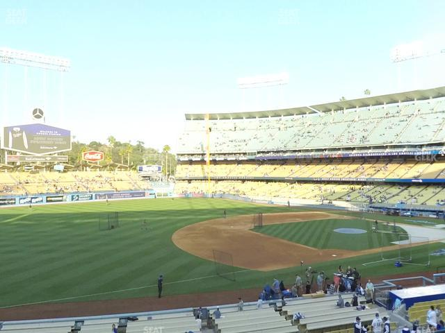 Dodger Stadium Loge Box 145 view