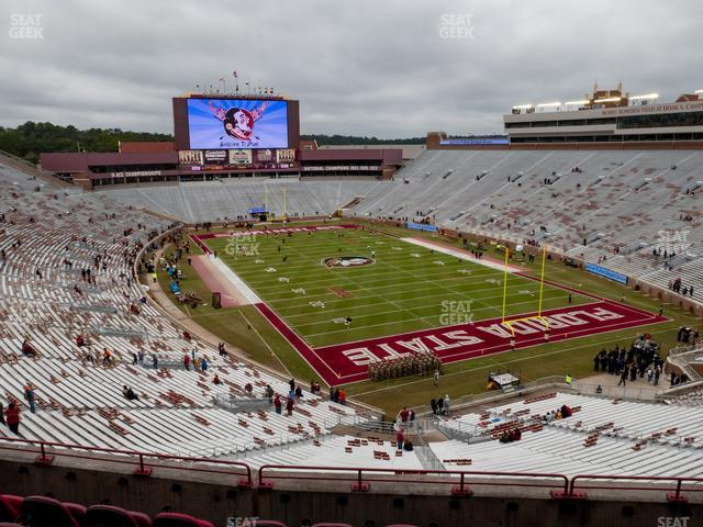 Doak Campbell Stadium Section Club 325 view