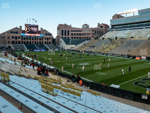 Folsom Field Section 109 view