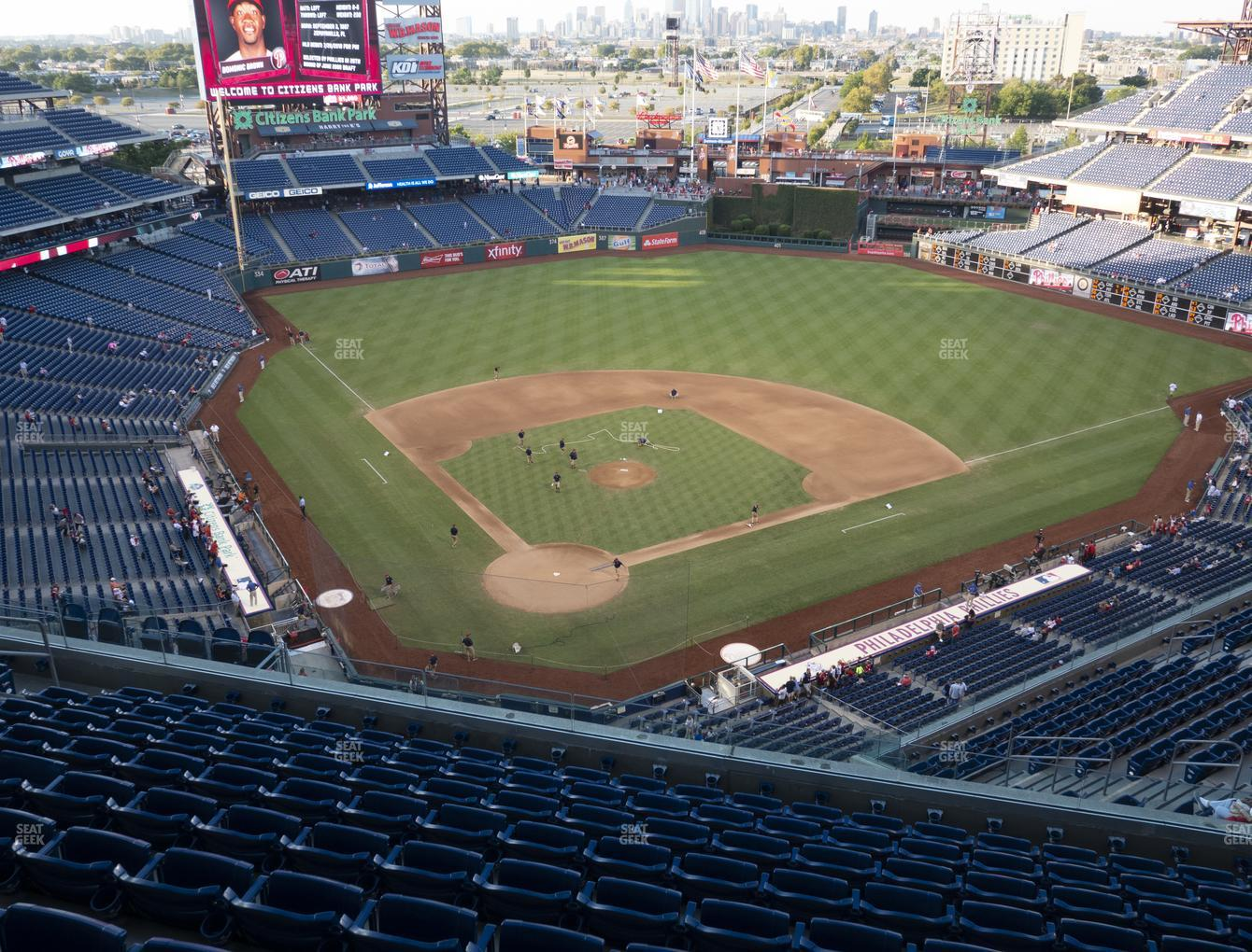 Philadelphia Phillies at Citizens Bank Park Section 419 View
