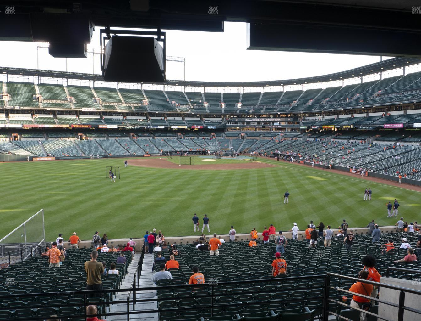 Baltimore Orioles at Oriole Park at Camden Yards Section 87 View
