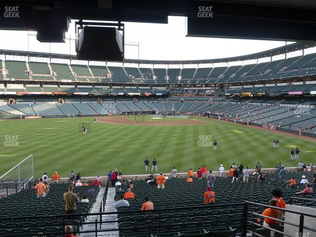 Oriole Park at Camden Yards Section 87 view