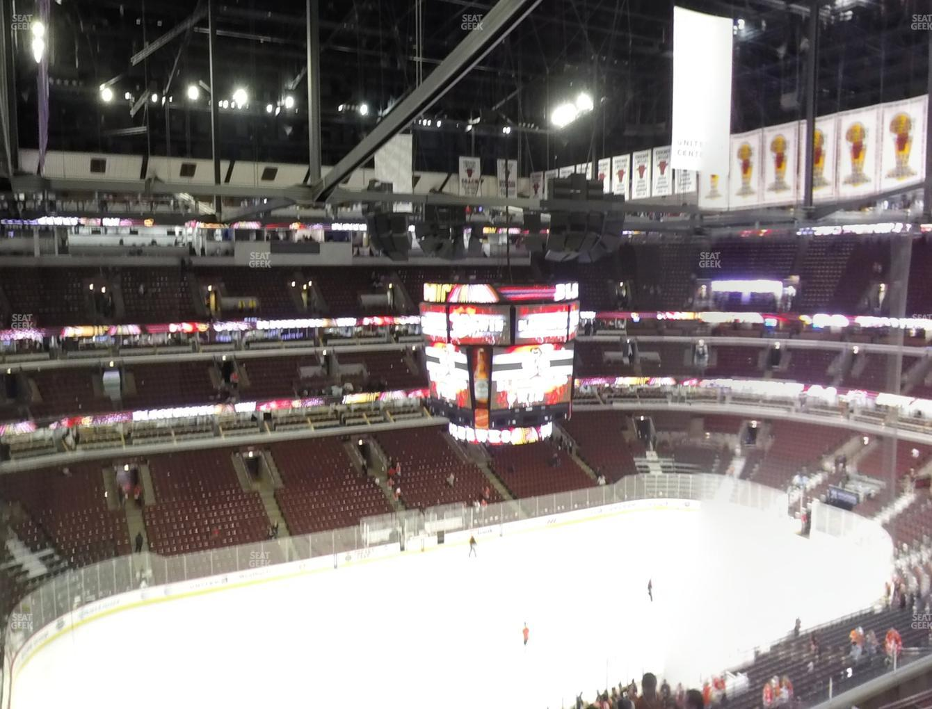 Chicago Blackhawks at United Center Section 303 View