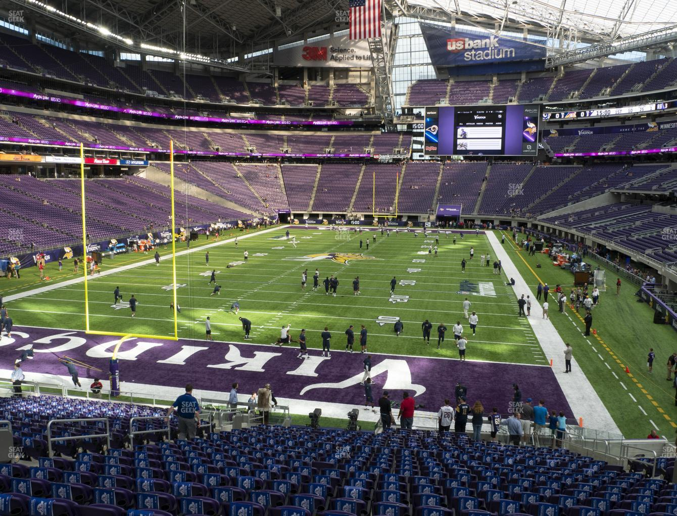 Minnesota Vikings at U.S. Bank Stadium Section 140 View