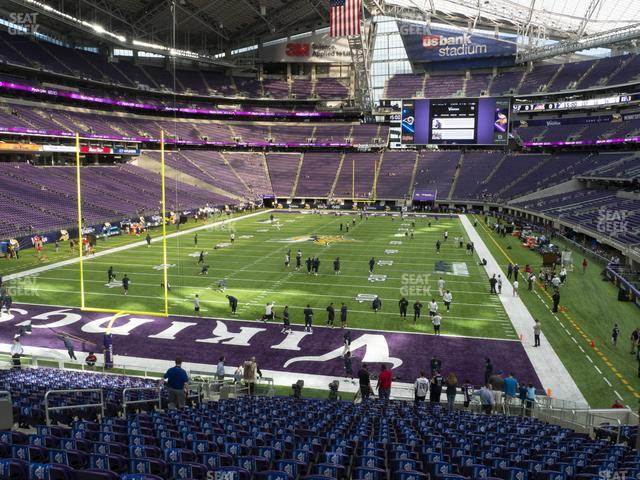 U.S. Bank Stadium Section 140 view