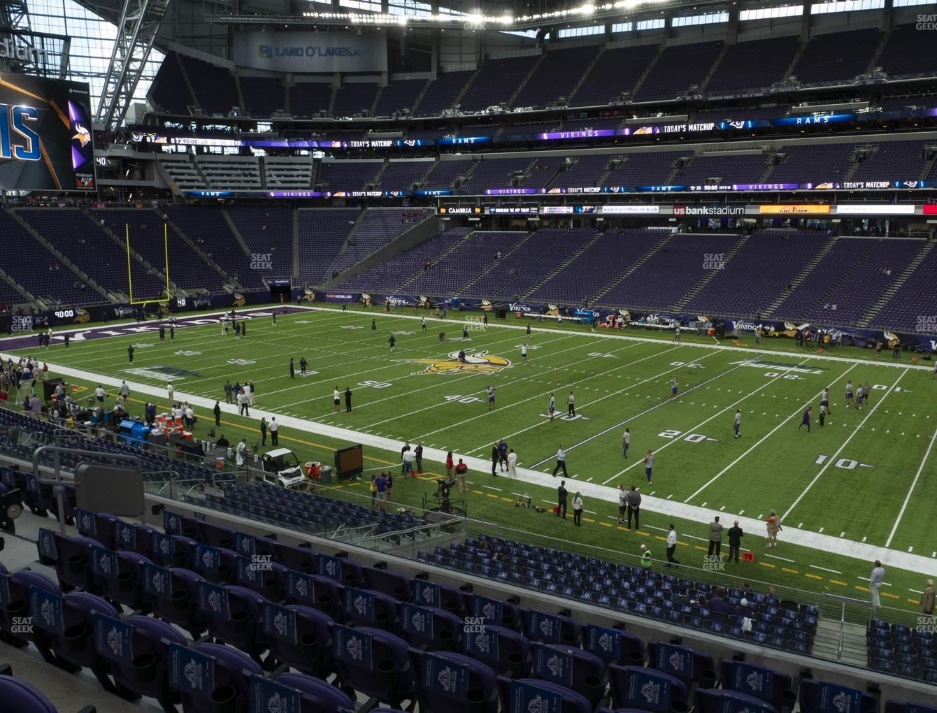 Minnesota Vikings at U.S. Bank Stadium Section 128 View