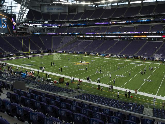 U.S. Bank Stadium Section 128 view