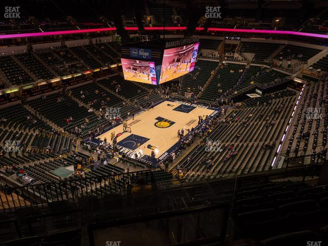 Bankers Life Fieldhouse Section 213 view