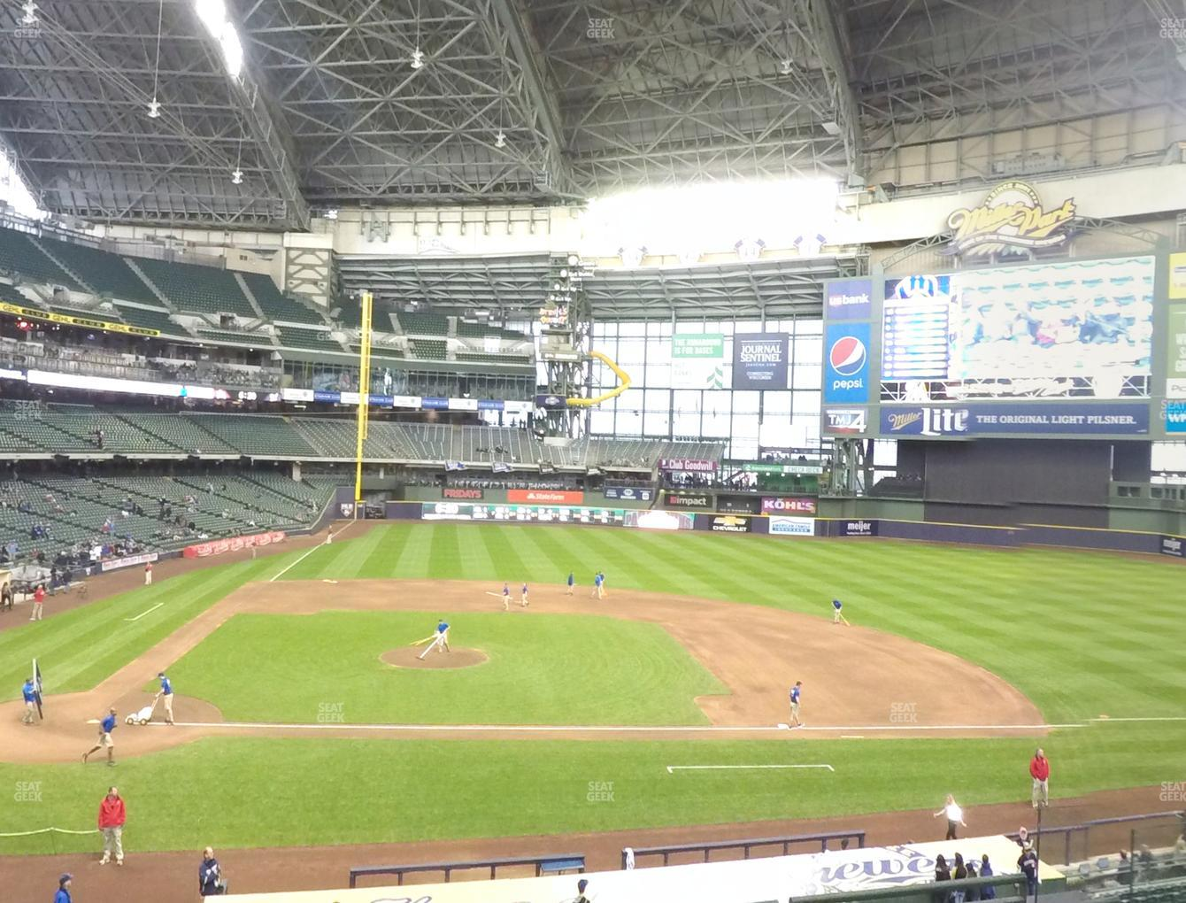 Milwaukee Brewers at Miller Park Section 214 View