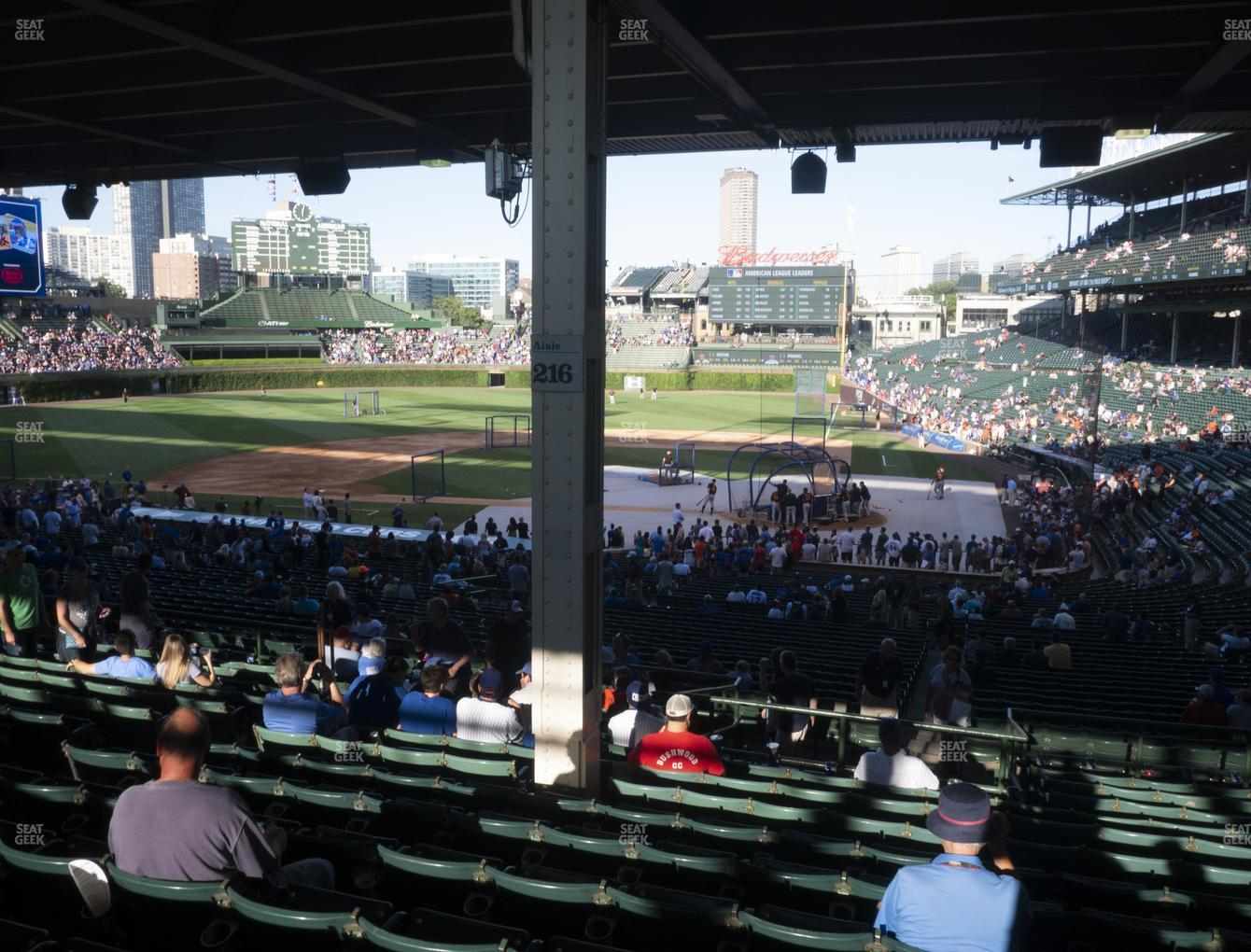 Chicago Cubs at Wrigley Field Section 214 View