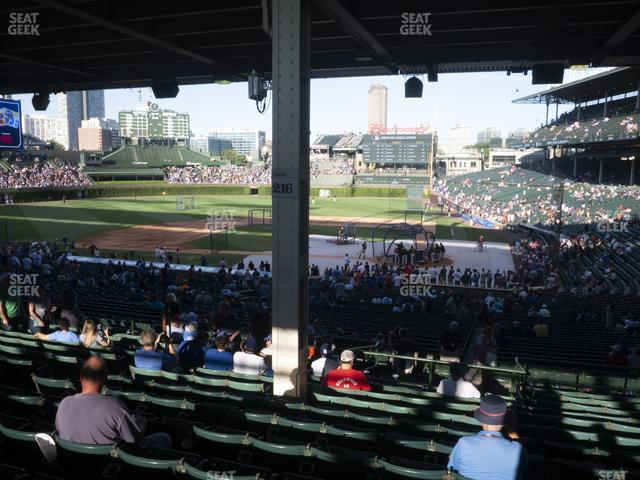 Wrigley Field Section 214 view