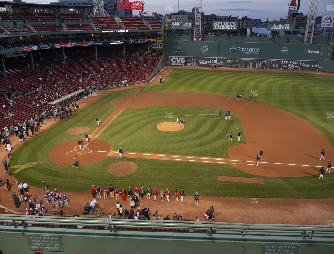 Boston Red Sox at Fenway Park State Street Pavilion Club 5 View