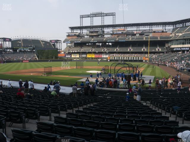 Coors Field Section 134 view