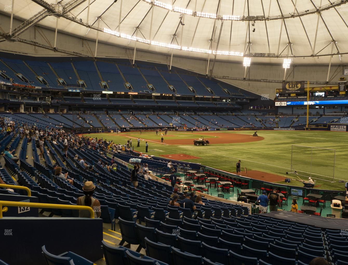 Tampa Bay Rays at Tropicana Field Section 134 View