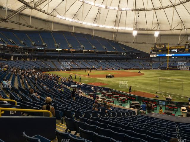 Tropicana Field Section 134 view
