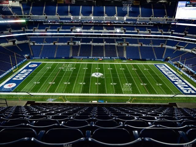 Lucas Oil Stadium Section 640 view
