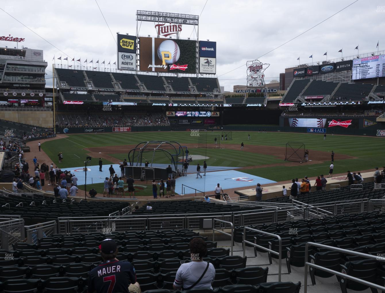 Minnesota Twins at Target Field Section 112 View