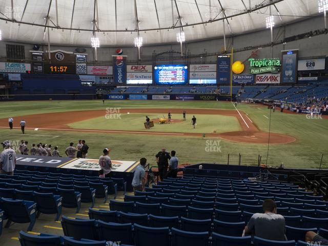 Tropicana Field Section 109 view