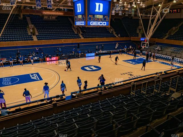 Cameron Indoor Stadium Section 13 view