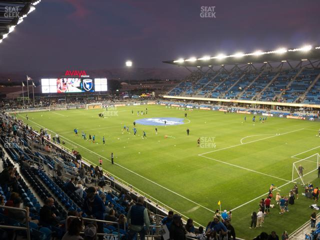 Avaya Stadium Section 113 view