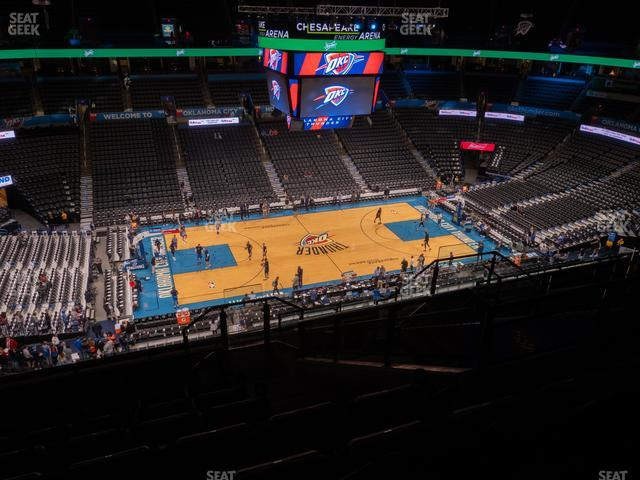 Chesapeake Energy Arena Section 325 view