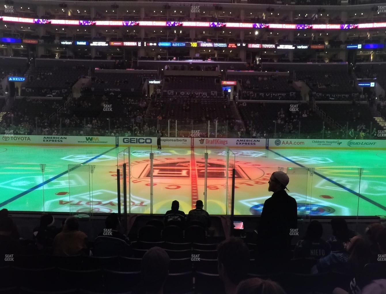 Los Angeles Kings at Staples Center Section 101 View
