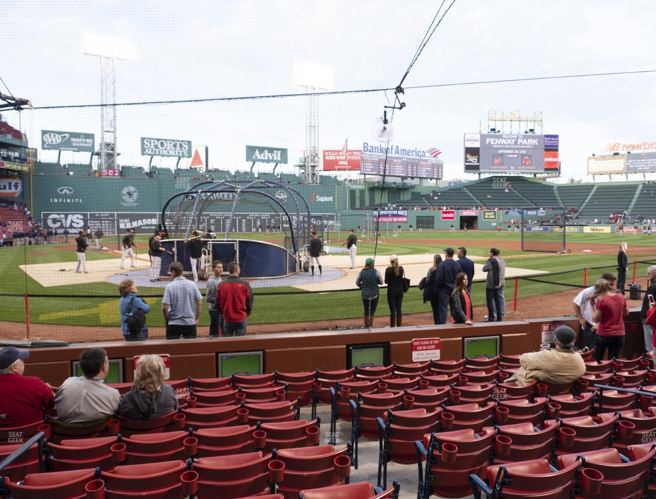 Boston Red Sox at Fenway Park Field Box 41 View