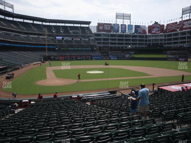 Globe Life Park Section 30 view