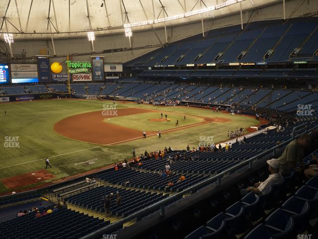 Tropicana Field Section 217 view