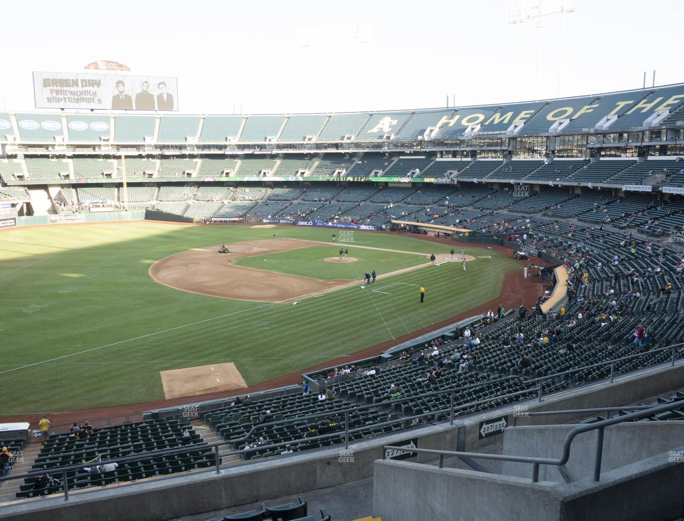 Oakland Athletics at RingCentral Coliseum Section 227 View