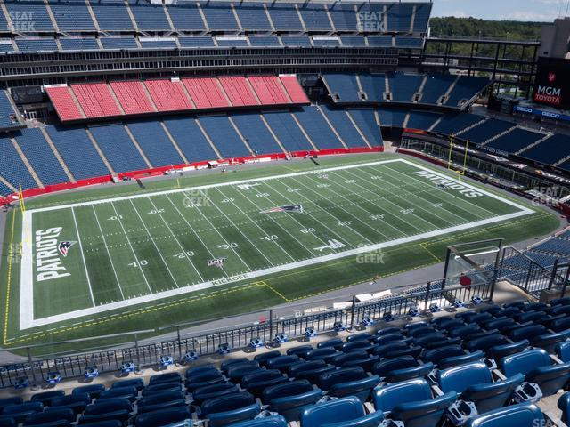 Gillette Stadium Section 335 view