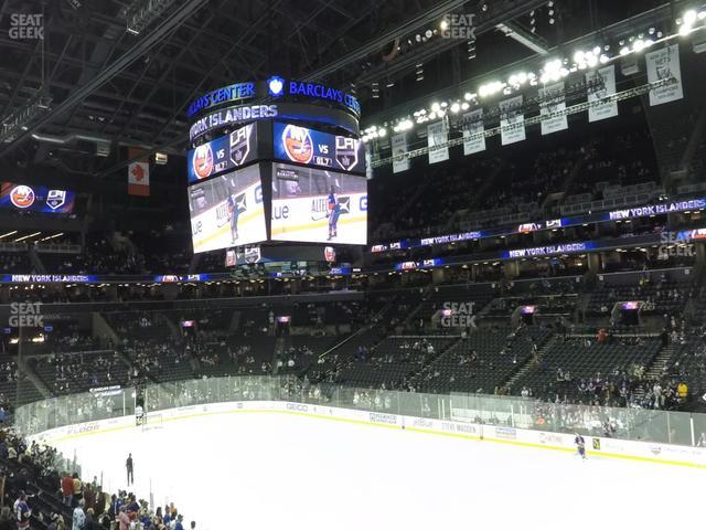 Barclays Center Section 104 view