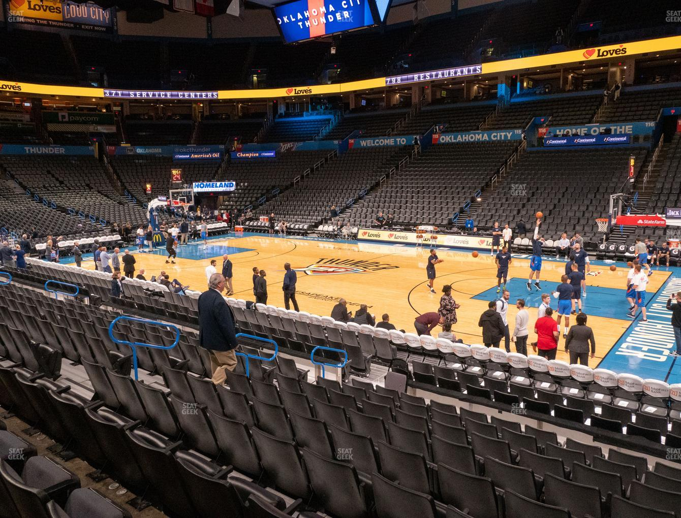 Chesapeake Energy Arena Section 104