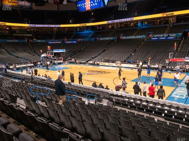 Chesapeake Energy Arena Section 104 view