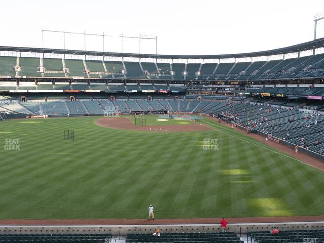 Oriole Park at Camden Yards Section 288 view