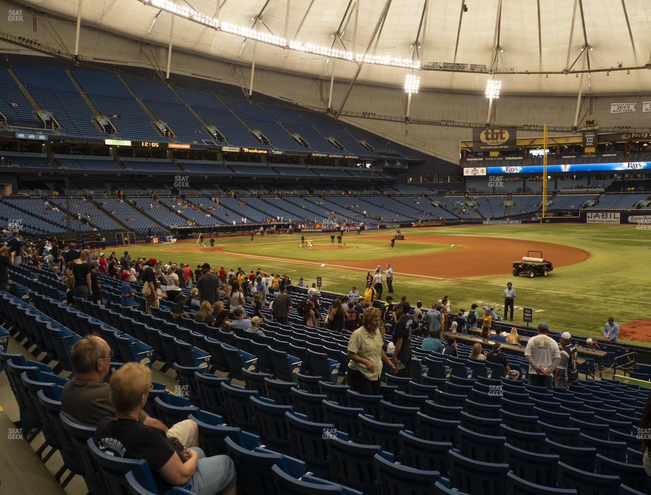 Tampa Bay Rays at Tropicana Field Section 128 View