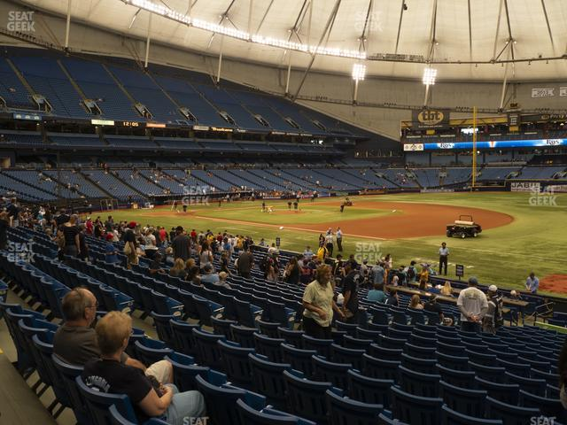 Tropicana Field Section 128 view