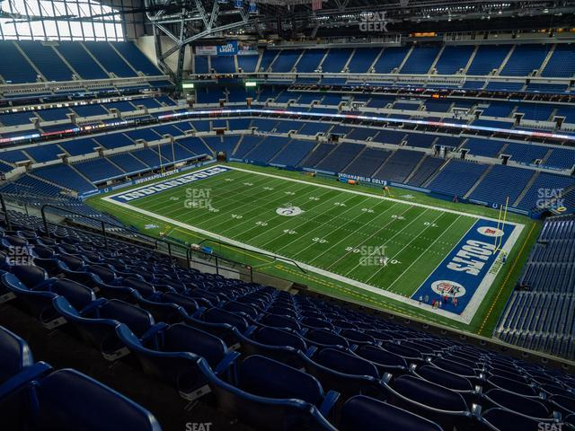 Lucas Oil Stadium Section 608 view