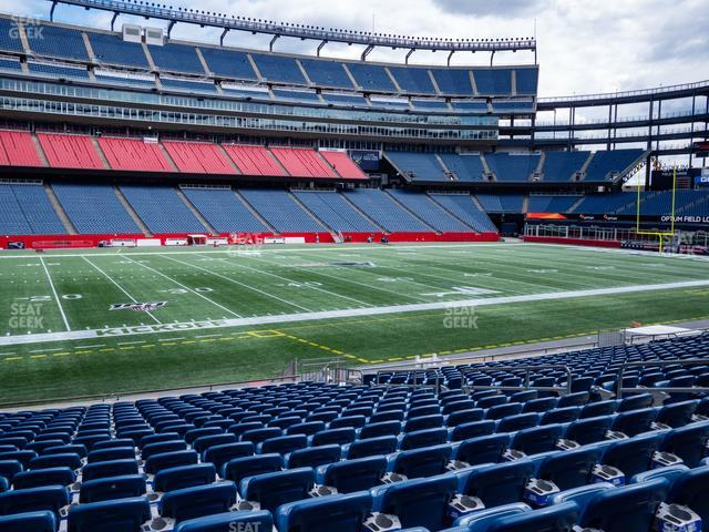 Gillette Stadium Section 134 view