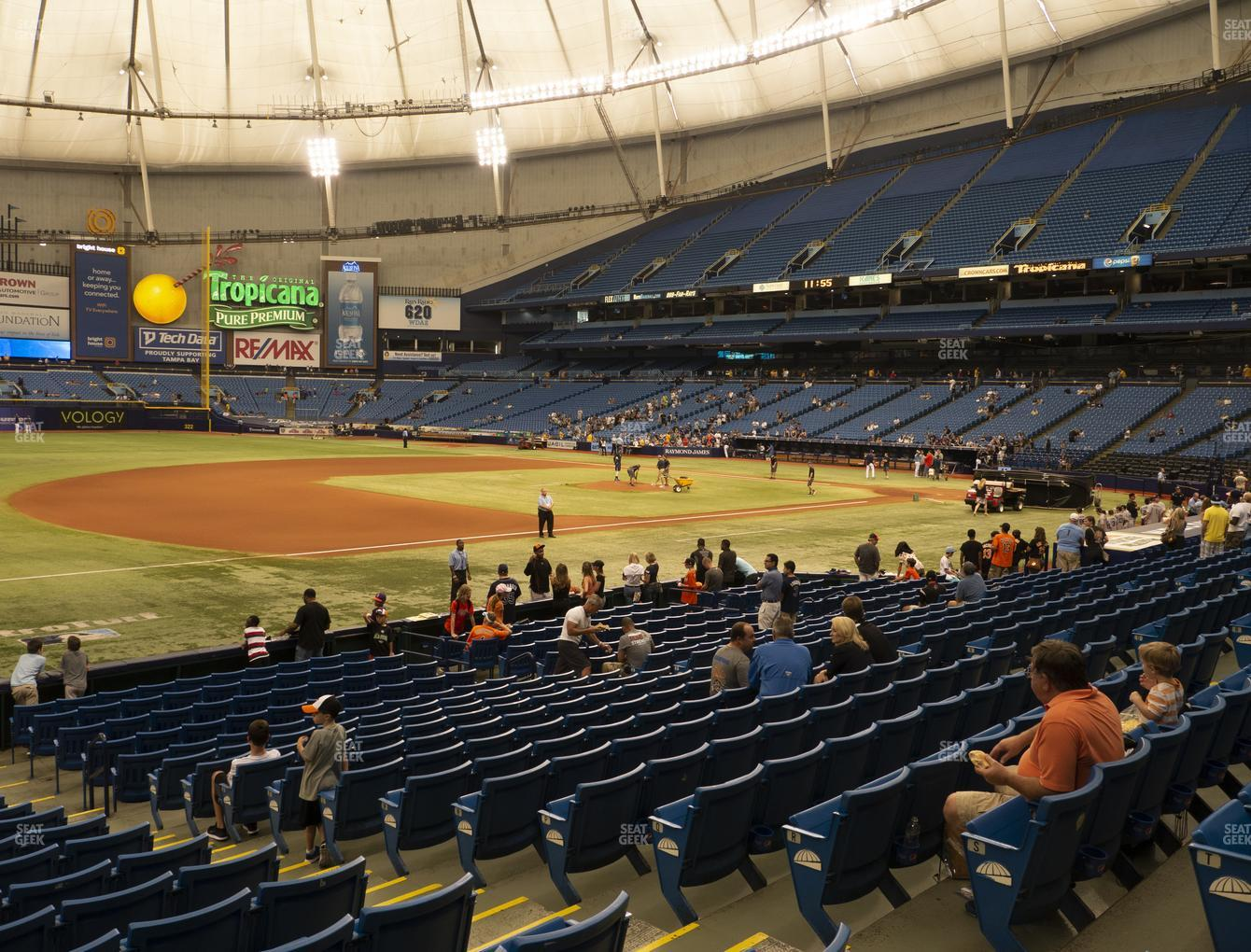 Tampa Bay Rays at Tropicana Field Section 125 View
