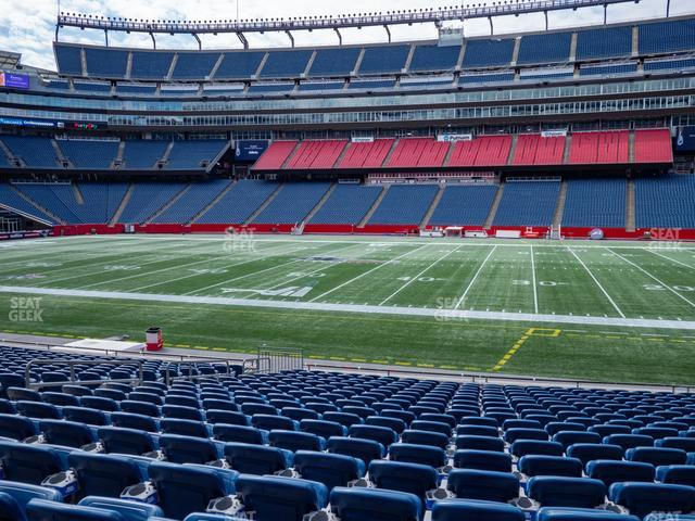 Gillette Stadium Section 108 view