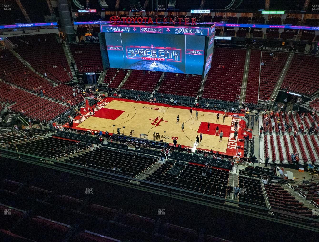Houston Rockets at Toyota Center Section 425 View
