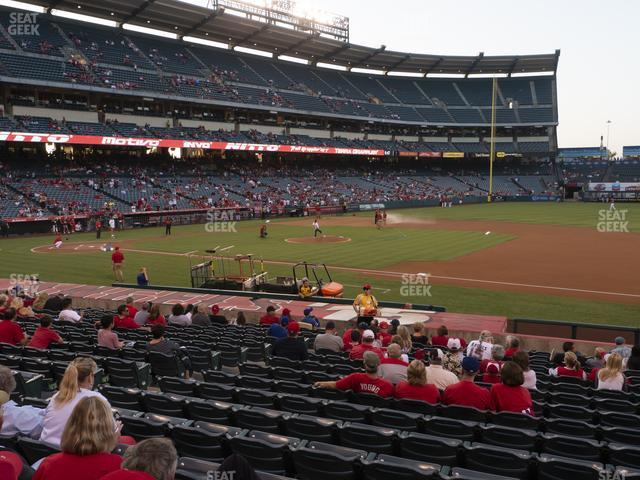 Angel Stadium of Anaheim Section 125 view