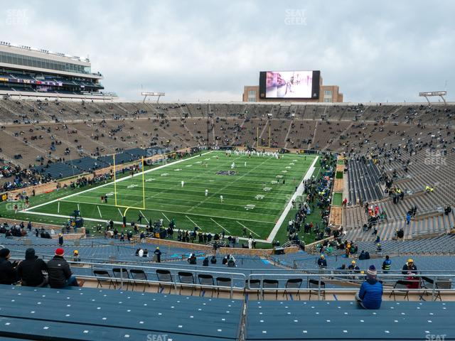 Notre Dame Stadium Section 135 view