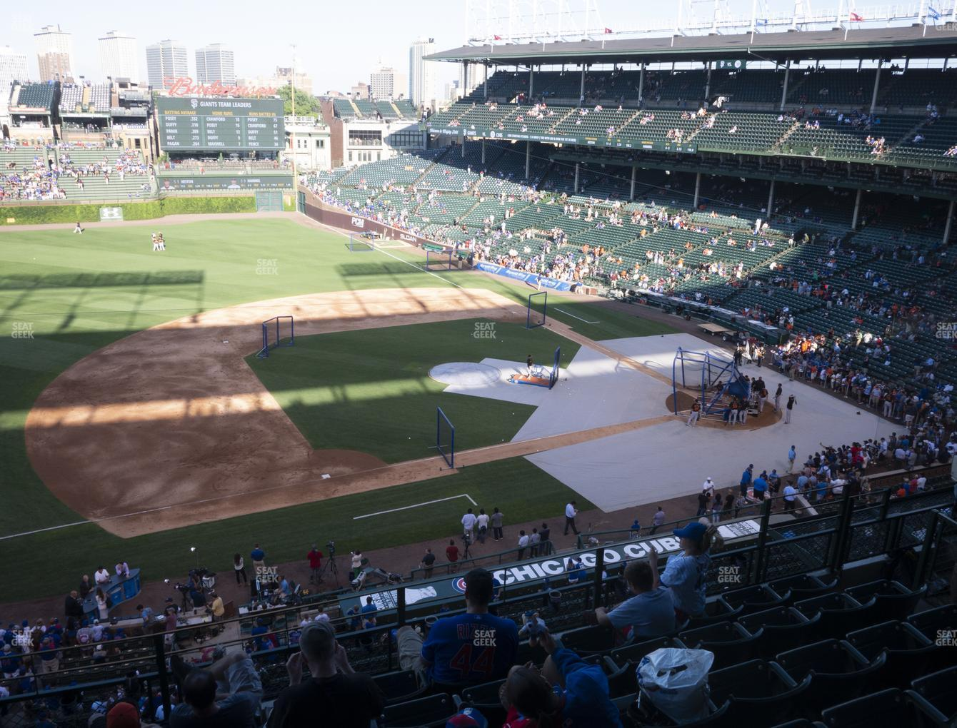 Chicago Cubs at Wrigley Field Section 309 Left View