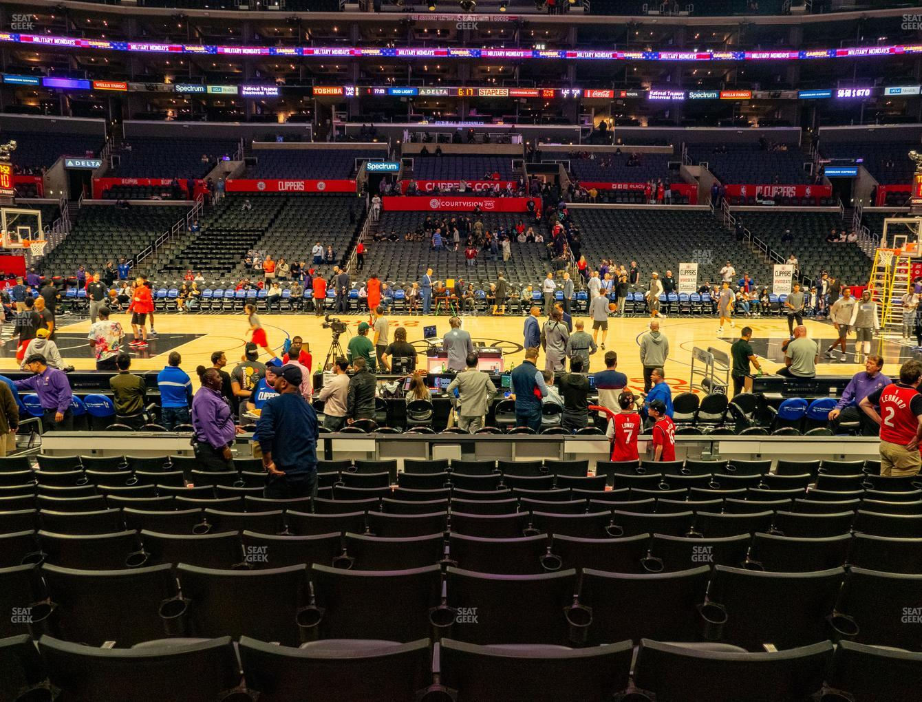 Los Angeles Lakers at Staples Center Section 101 View