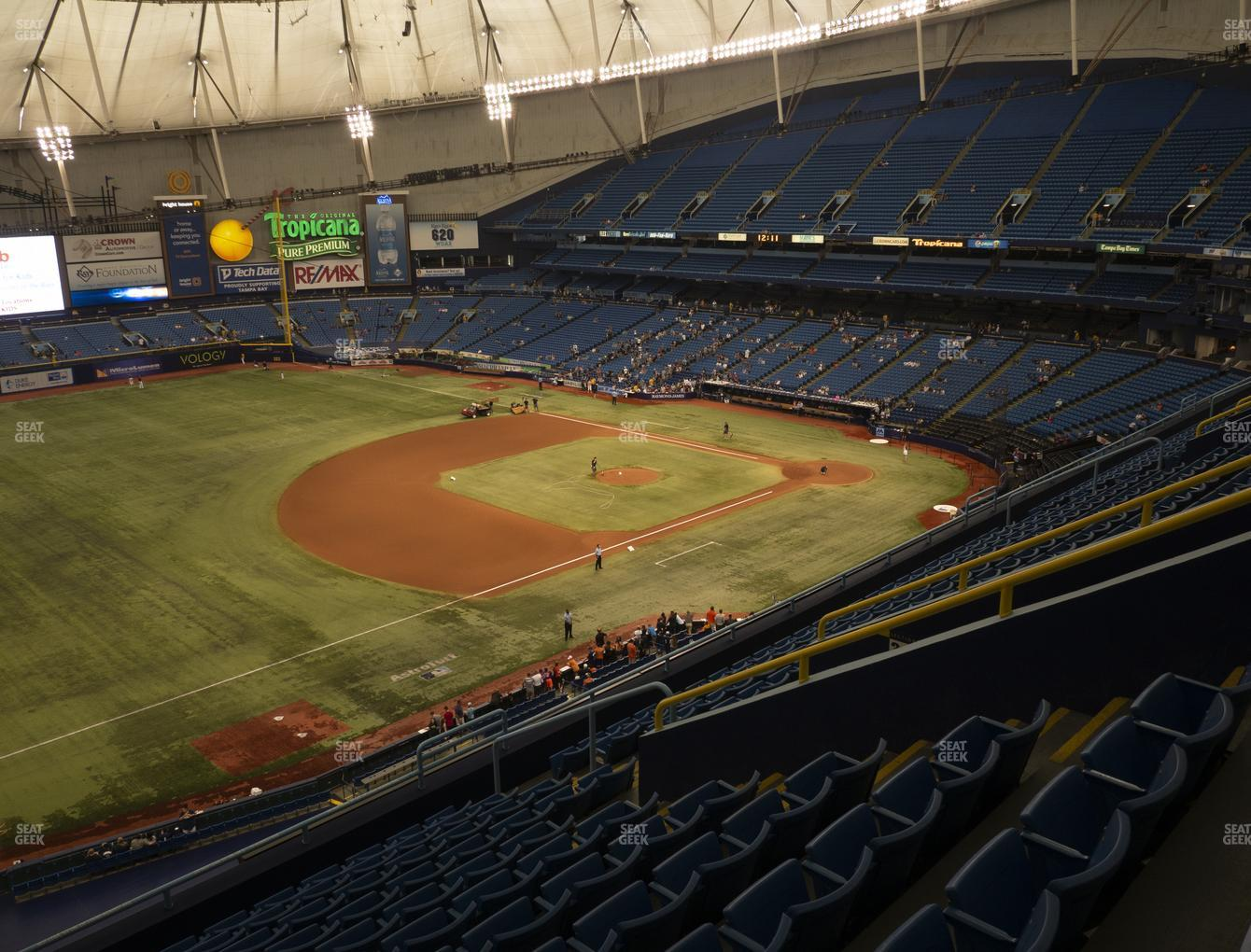 Tampa Bay Rays at Tropicana Field Section 319 View